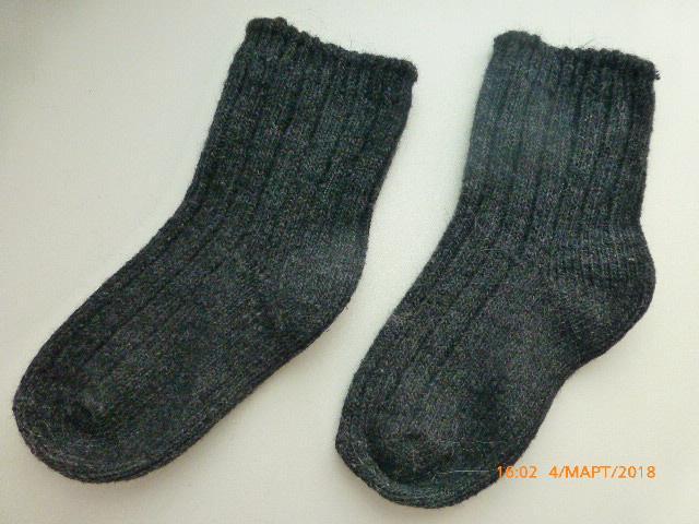 Носки из шерсти и ангоры на 12мес.