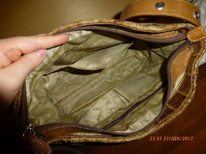 сумка Gianni Conti, нат.кожа, б/у