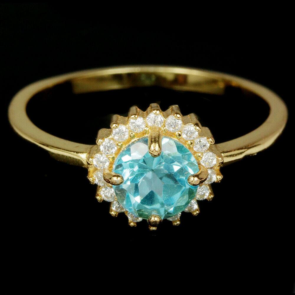 кольцо+кулон серебро 925*+золото+топаз+цирконы