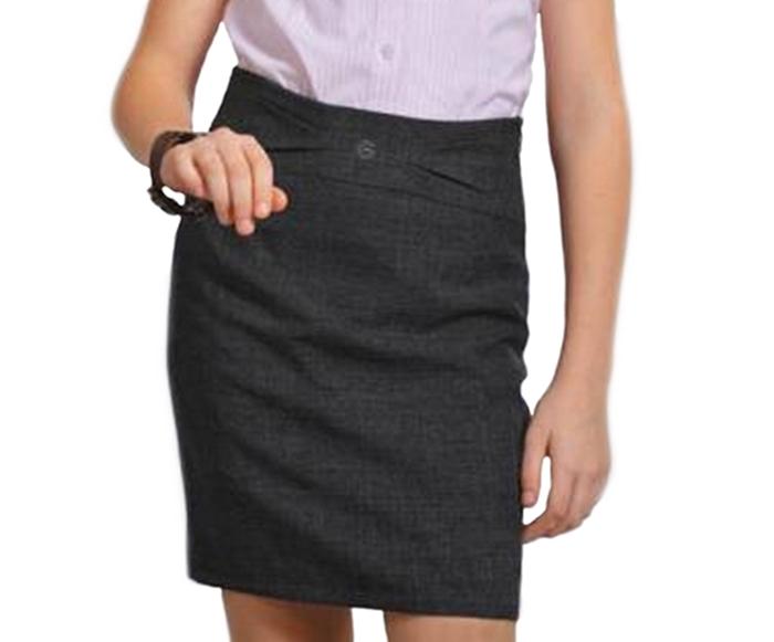 Школьная юбка серая