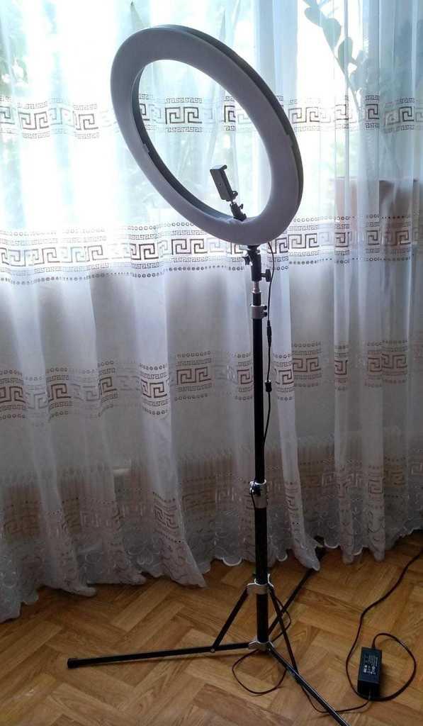 Новая Кольцевая лампа визажиста на штативе