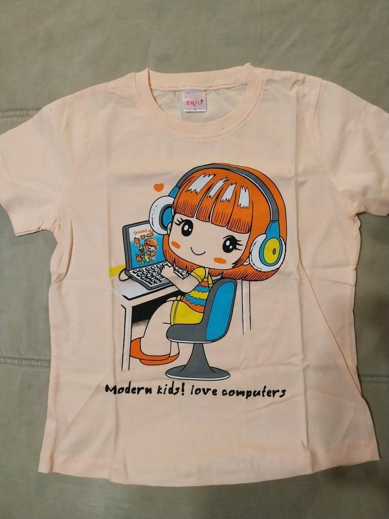 Летние футболки для девочки на 5-7 лет