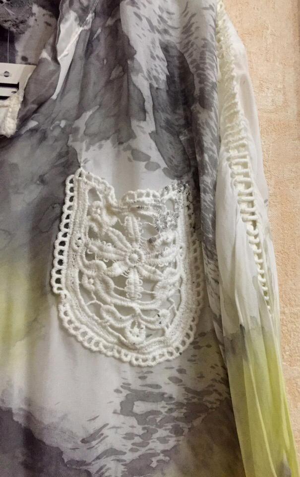 Отпадная  блузка Италия без размера