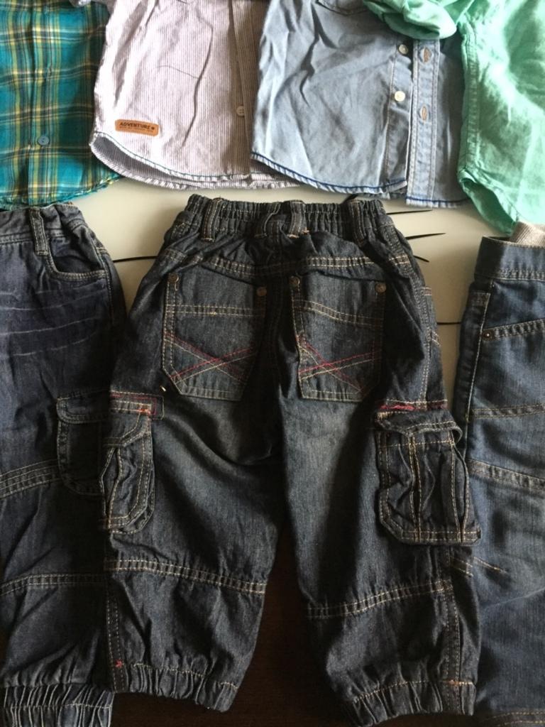 Джинсы и рубашки на 12-18 мес.