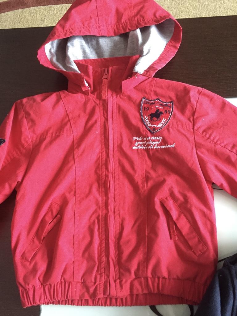 Куртка драп и ветровка р.90-100 см