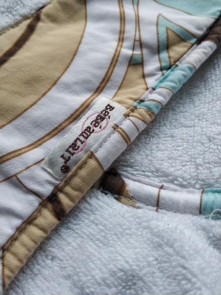 Bebe au lait детское банное полотенце б/у