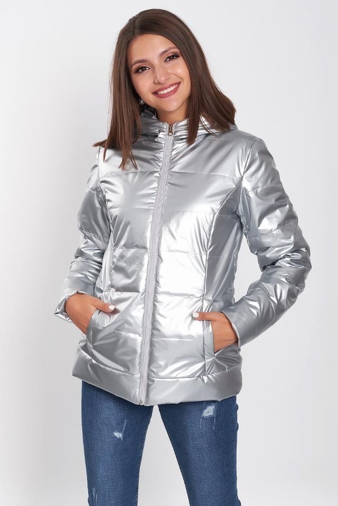 Легкая куртка из плащевой ткани с утепл.-р.48