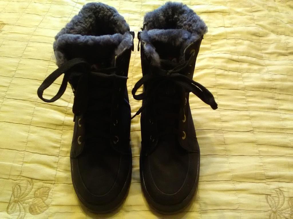 Новые зимние ботинки, нубук-цигейка, р.40 (24)