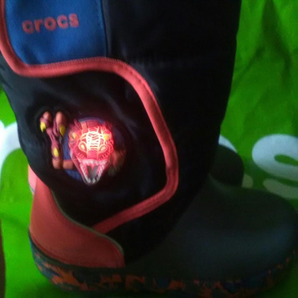 Новые зимние мигающие дутики Crocs, оригинал