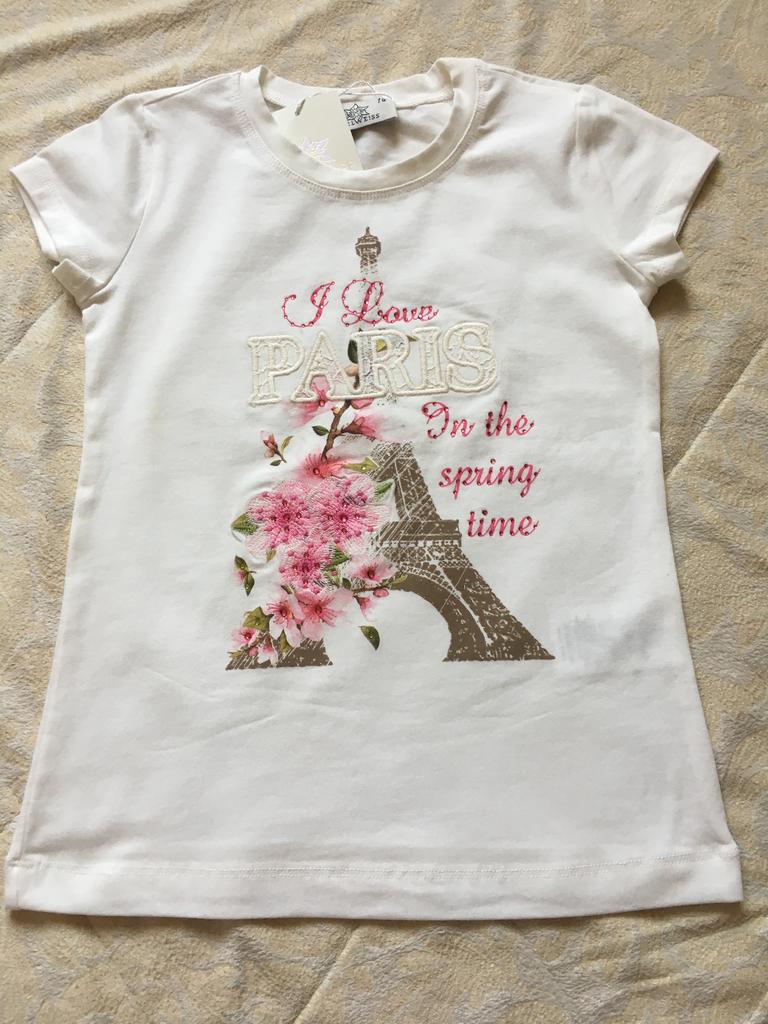 Новый комплект для девочки футболка и шорты р. 122 - 128