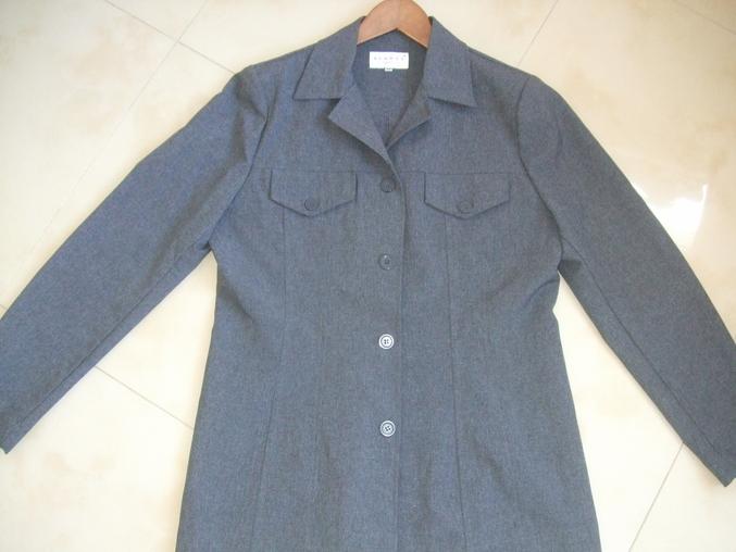 Серый пиджак HENNES р.42 ( наш 46-48р-р) б/у