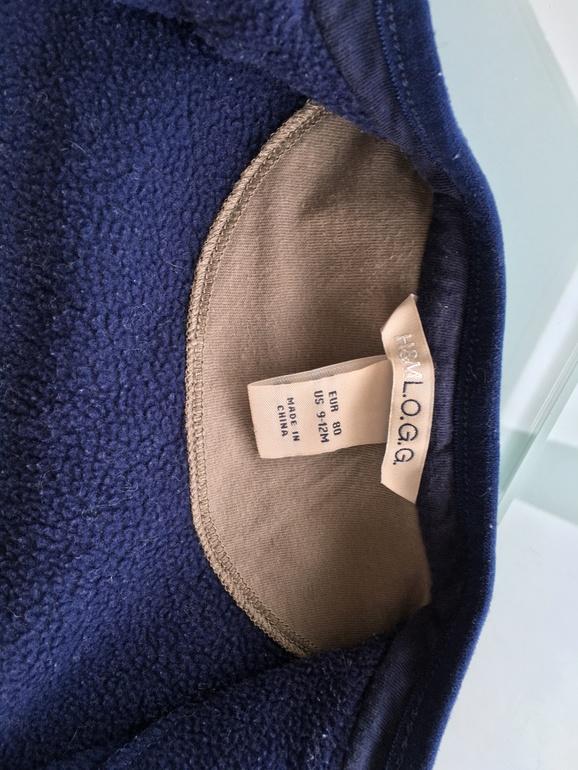Флисовая кофточка H&M. р.80 (9-12м)