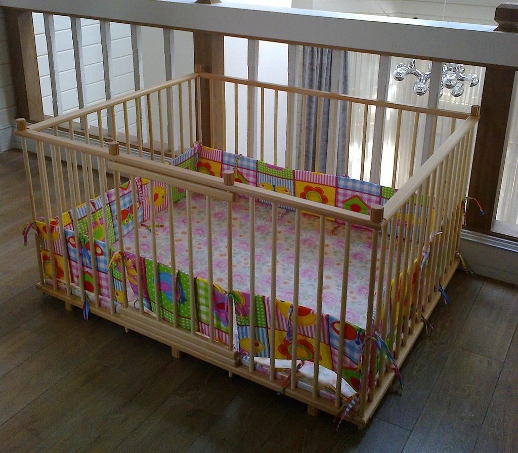 Манеж детский деревянный 1.2х1.5м купить