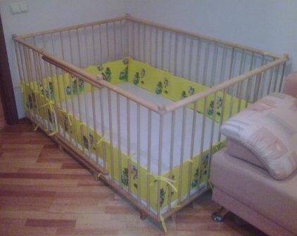 Манеж для детей 1.1х1.8м деревянный