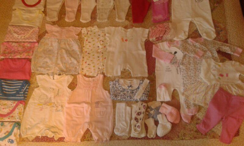Огромное количество вещей для девочки 62-68-74р.