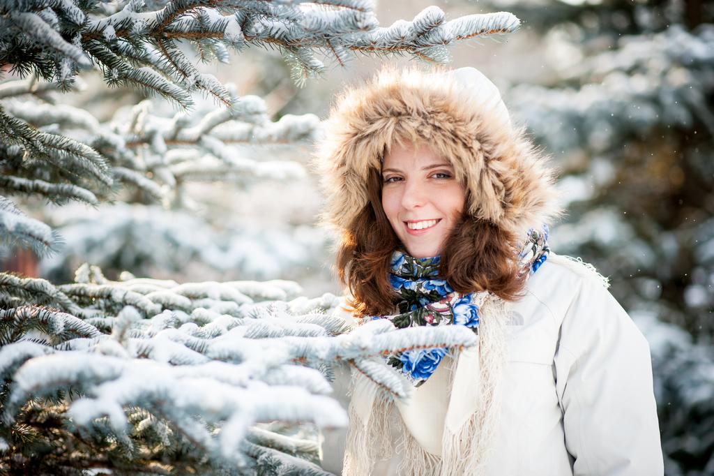 Зимняя фотосессия юлии из москвы