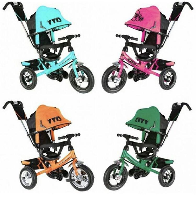 трёх колесный велосипед City Надувные колеса