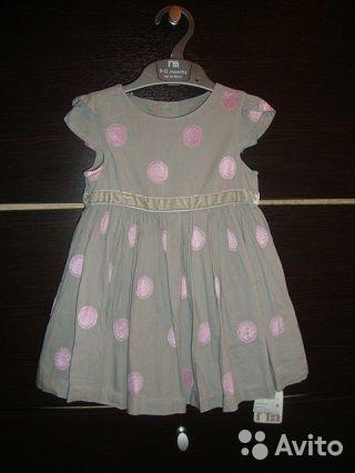 Новое платье для девочки Mothercare. Размер 74-80.