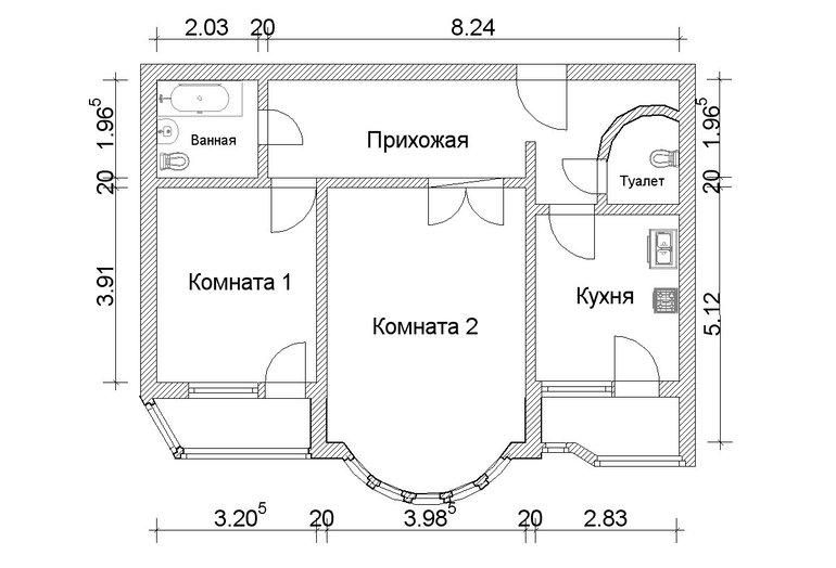 Как сделать план квартиры фото 8