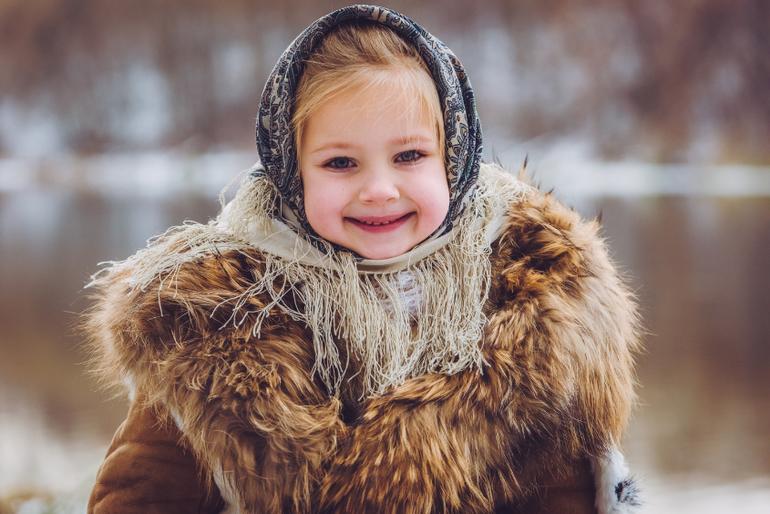 русская красавица в душе
