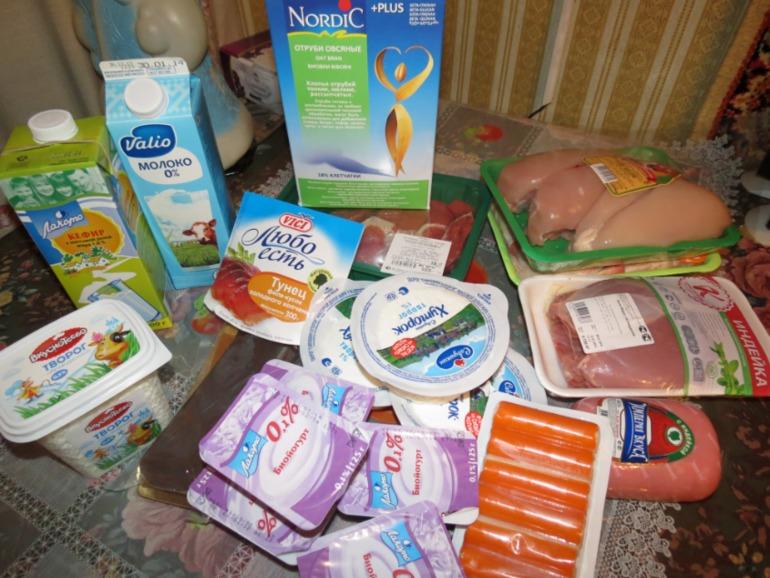 Фото разрешенных продуктов диеты дюкан