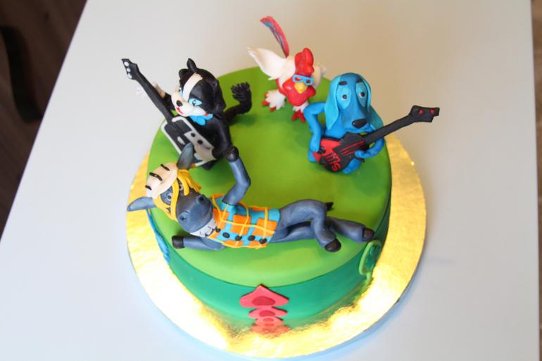 Бременские музыканты картинки для торта