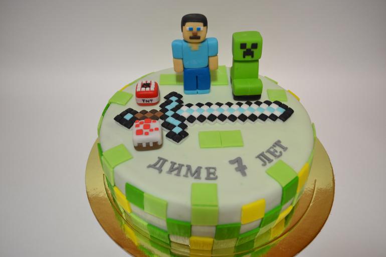 Детский торт майнкрафт