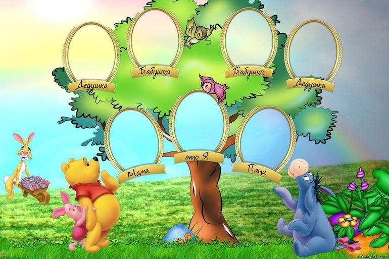 Скачать шаблон для семейного дерева для фотошопа