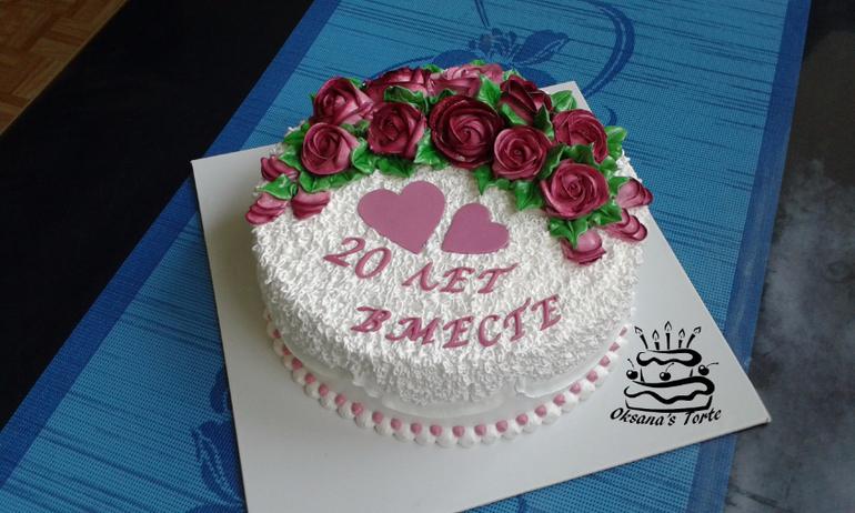 Торт на годовщину свадьбы как украсить