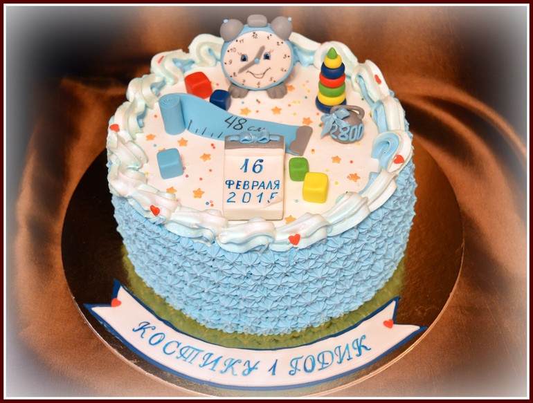 Украшение торта с зеркальной глазурью 95