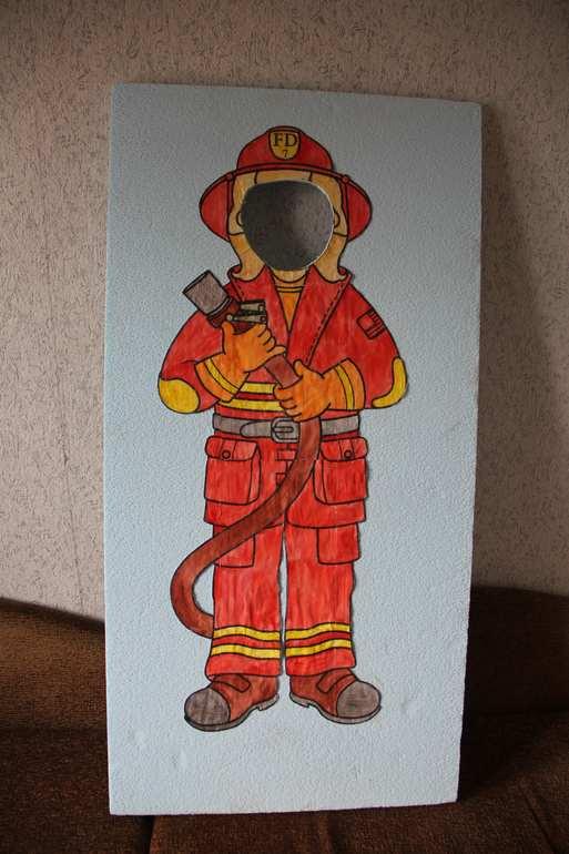 Открытка для пожарных своими руками