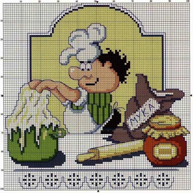 схема повара вышивка крестом