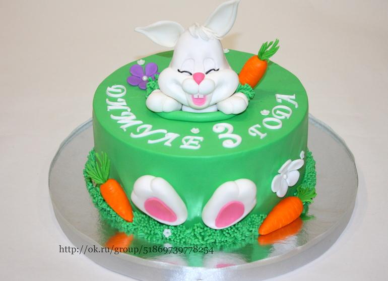Торт детский в виде зайца фото