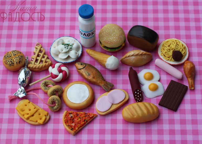 еда для кукол из глины открытом