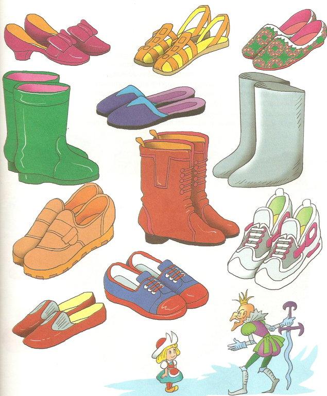 Предметные картинки с изображением одежды обуви