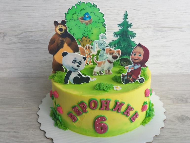 торт с картинкой маша и медведь бока из крема фото именно предсезонные
