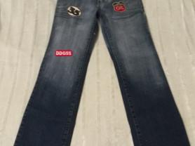 Темно-синие женские джинсы XihovWar Levis с нашивк