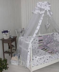 Комплект в кроватку 9 предметов в кроватку 120*60см (Поплин)