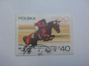 Марка 40gr 1967 год Польша Олимпиада