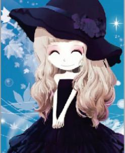 Девочка в шляпке - алмазная мозаика