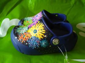 Новые сабо Crocs, с мигалками, оригинал