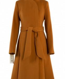 09-1860 Пальто женское демисезонное (пояс) El Podio Кашемир