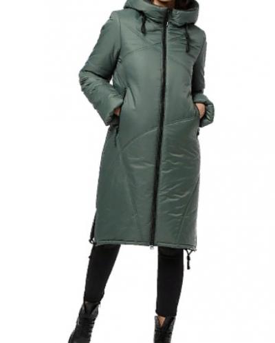 """Пальто """"Ингрид"""" Артикул: 18422  зеленый"""