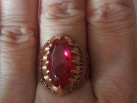 Кольцо золото 585, 16,5 размер, рубин.