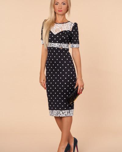 Платье № 877-черный