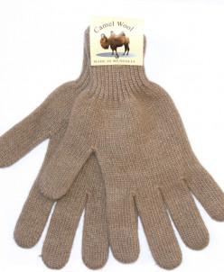 """Перчатки взрослые из шерсти """"Верблюд"""" бежевый"""