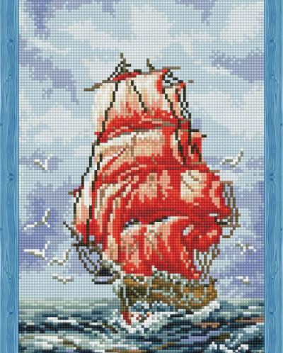 Алые паруса - алмазная мозаика