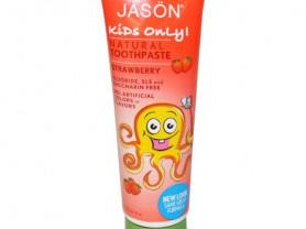 """Натуральная детская зубная паста """"Клубника"""". Jason"""