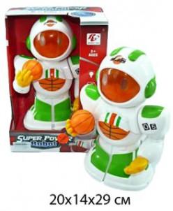 Робот эл. Баскетболист, свет, звук.