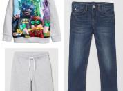 Джинсы, свитшот и шорты H&M (8-10 лет)